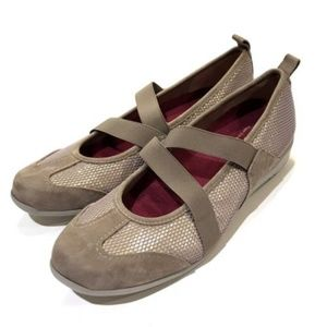 Munroe American Zip Mary Jane Shoes Athletic Taupe